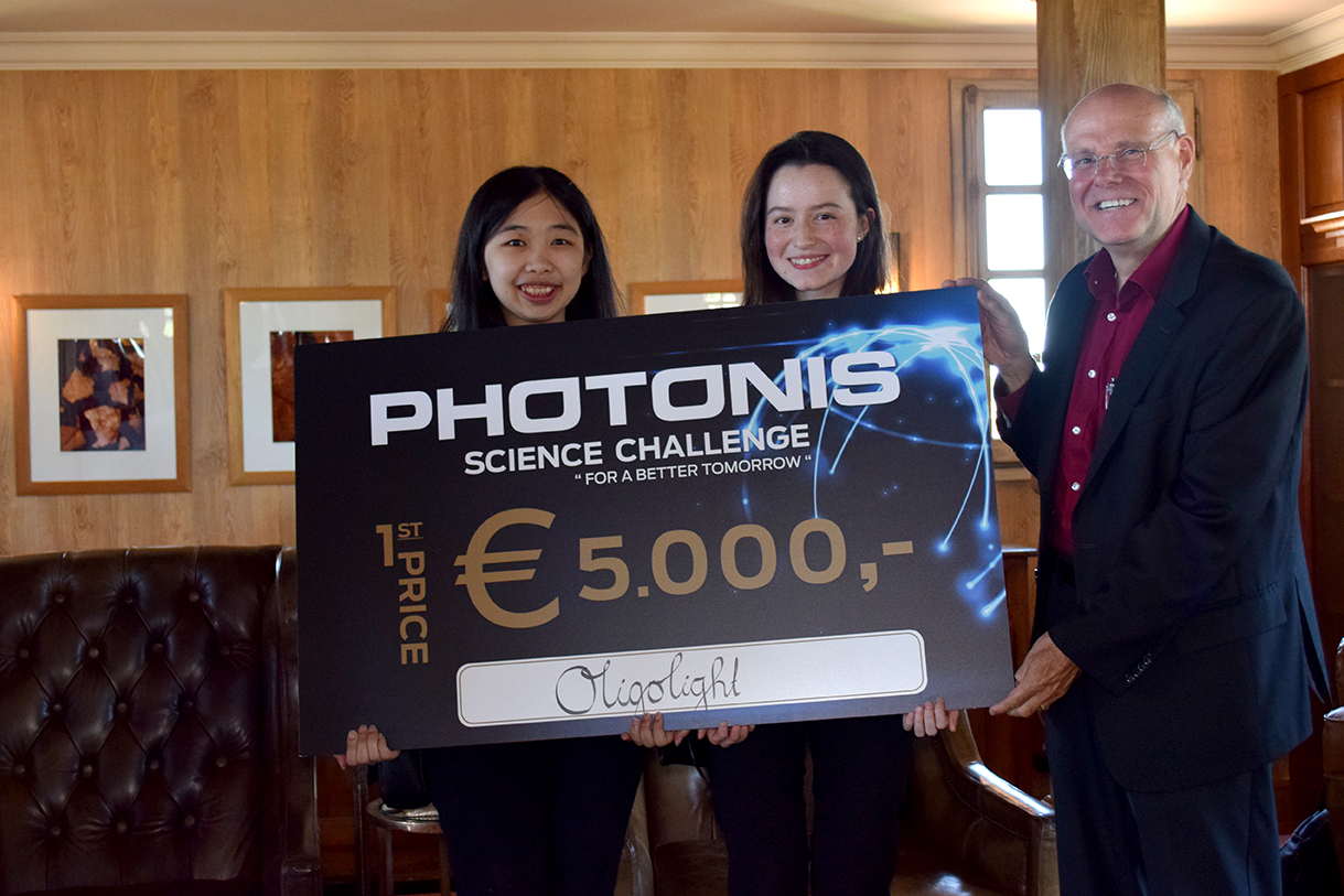 Oligolight wins Photonis Science Challenge