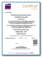 ISO 45001- Photonis France